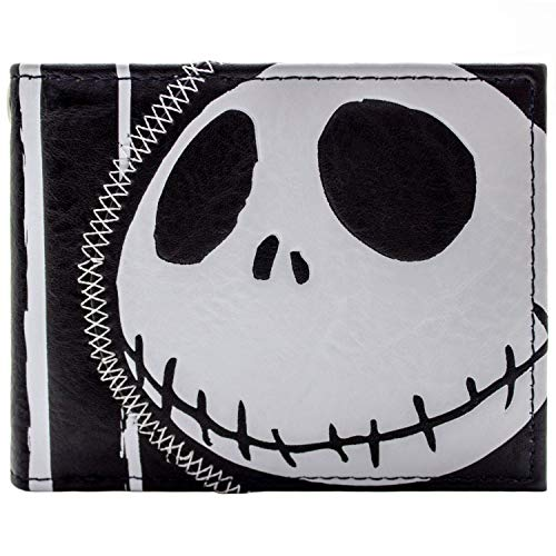 Nightmare Before Christmas gestreift Jack Schwarz Portemonnaie Geldbörse