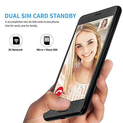 Moviles Libres Baratos  DOOGEE X20 Dual SIM Smartphone Libre Barato  3G Android 7 0 Telefonos  5 Pulgadas HD IPS Display y MT6580 Quad Core Movil  1GB
