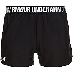 Under Armour Play Up Short 2.0 Pantalón Corto, Mujer, Negro (002), L