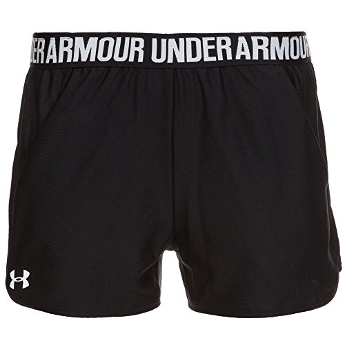 Under Armour Damen Play up Shorts 2 Kurze Hose, Schwarz(Black/Black/White (002)), S