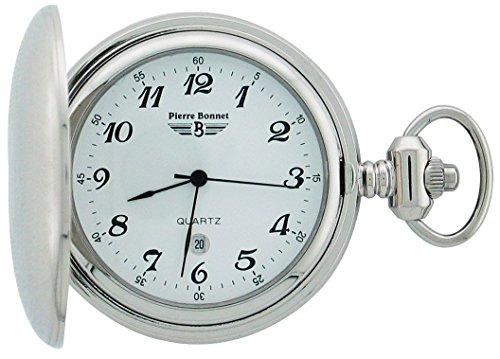 PIERRE BONNET - Orologio Pierre Bonnet da tasca in acciaio con catena. R. 2221