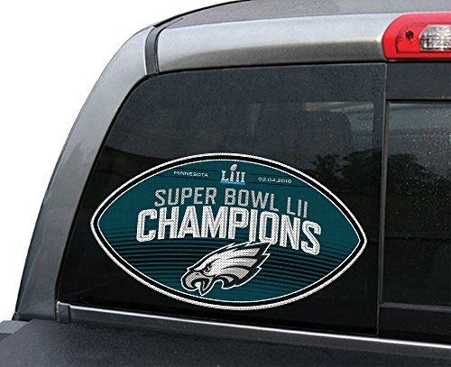 (Fremont sterben 93982NFL Philadelphia Eagles Super Bowl 52Champions großes Fenster Film, Team Farbe, 30,5cm)