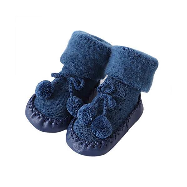LILICAT Toddler Infant Newborn Baby Socks Cotton Children Floor Socks Anti Slip Baby Step Socks Christmas Warm Stockings Slipper Shoes Boots Xmas 0 2 Years Old