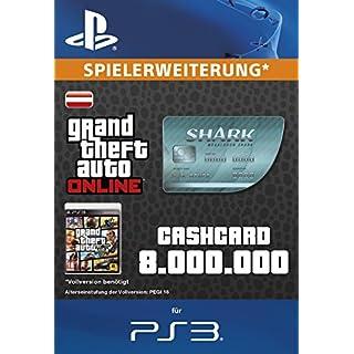 Grand Theft Auto Online | GTA V Megalodon Shark Cash Card | 8,000,000 GTA-Dollars | PS3 Download Code - österreichisches Konto