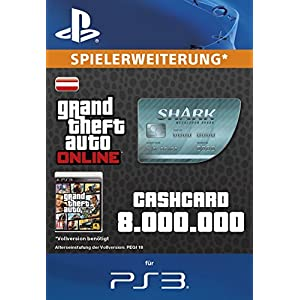 Grand Theft Auto Online | GTA V Megalodon Shark Cash Card | 8,000,000 GTA-Dollars | PS3 Download Code – österreichisches Konto