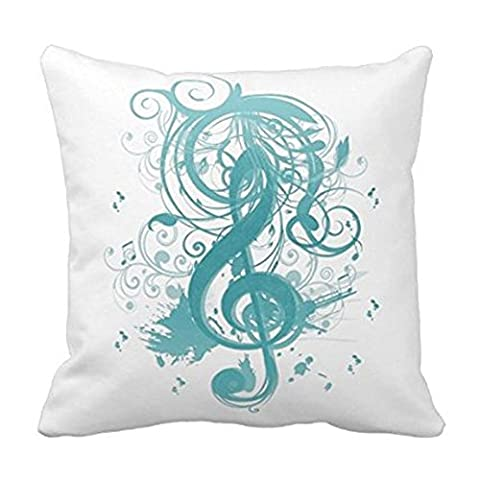 Beautiful Cool Music Notes With Splatter Swirls Throw Pillows Custom Throw Pillow Case Personalized Cushion Cover Pillowcase Square Pillow Cover