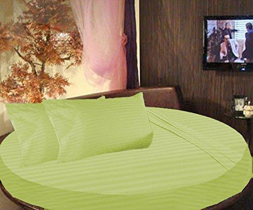 SCALABEDDING Bettwäsche-Set, gestreift, 300TC, 100% ägyptische Baumwolle, King 243.84 cm Durchmesser, Blatt-Design -