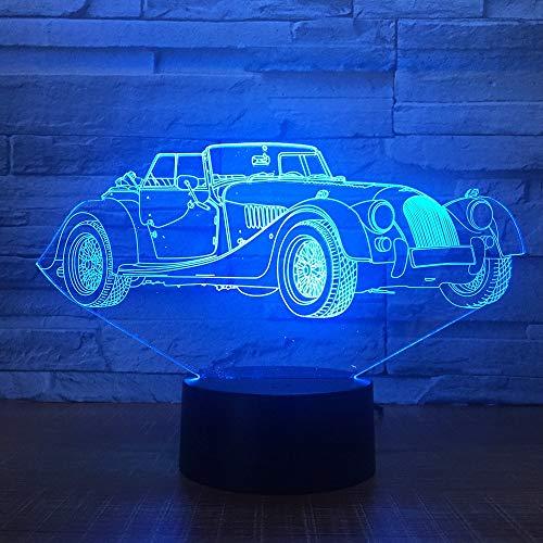 Novità Cool Converti Car 3D Night Light LED USB RGB 7 Colori Cambio Tavolo Scrivania Lampada Home Decor Boy Compleanno Regalo Di Natale han-8837