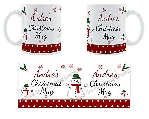 Andre'Weihnachten Becher, Tasse, Keramik, personalisiert, Name -
