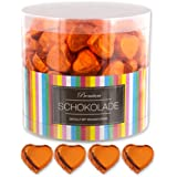 150 orange Schokoladen Herzen Amsterdam