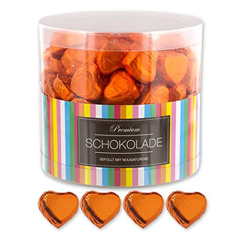150 orange Chocolate Hearts Amsterdam