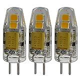3x STK. G4Mini LED 1,5W, 12V AC/DC regulable blanco cálido de silicona (Gel de sílice) lámpara bombilla halógena de repuesto para regulador