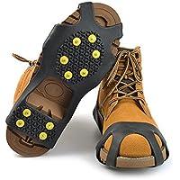 Tapones de agarre antideslizante para nieve y hielo para zapatos x 10, Large