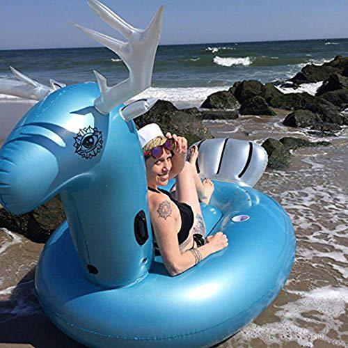 LCYCN Planschbecken,275X140x120 cm Riesen Tier Aufblasbare Pool Float Floß, Seaside Foto Requisiten Floating Row Erwachsene/Kinder Schwimmen Wasser Spielzeug