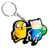 Adventure Time Finn and Jake Rubber Keychain