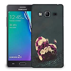 Snoogg Flower hearts Designer Protective Back Case Cover For Samsung Galaxy Tizen T3
