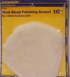 "Eazypower 87184 Wool Blend Polishing Bonnet (1-pack), 10"""