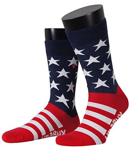 Unabux Socke Stars & Stripes, blau/rot/weiß Grösse 36-40