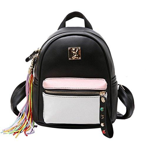 QPALZM Leder Rucksack Frauen Weich & Mode Lovely Rucksack Nette Schule Tasche Schultertasche Für Mädchen Pink