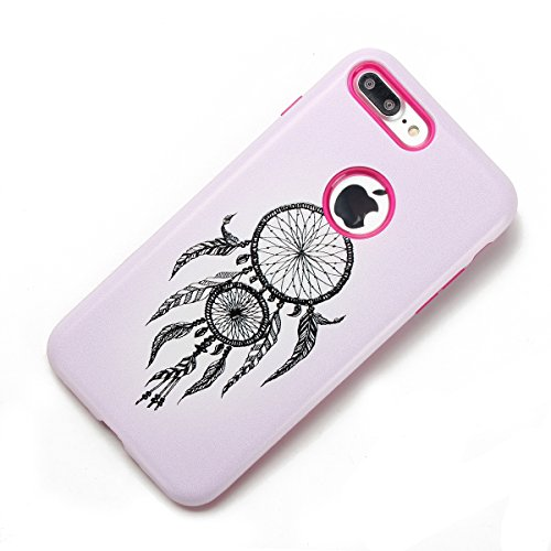 Custodia Cover iPhone 7/8 plus Silicone,Ukayfe Sollievo Design Colorato Cristallo Nero Ultra Sottile Morbido Soft TPU Gel Case Cover per iPhone 7/8 plus, Flessibile Liscio Anti Graffio Anti Scossa Ant Campanula