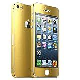 IPHONE 5S GOLD METALLIC MATT FOLIE SKIN ZUM AUFKLEBEN bumper case cover schutzhülle i phone