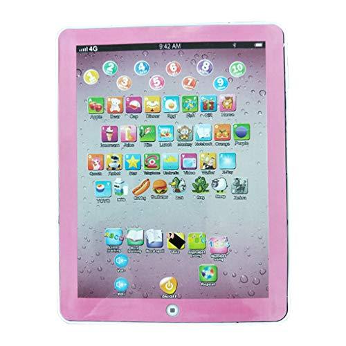 QHJ Lerntablett Tablet für Kinder Kleinkind Frühe Entwicklung Lernspiel Spielzeug Alphabet Lernen ABC Sounds Musik und Worte (Rosa)