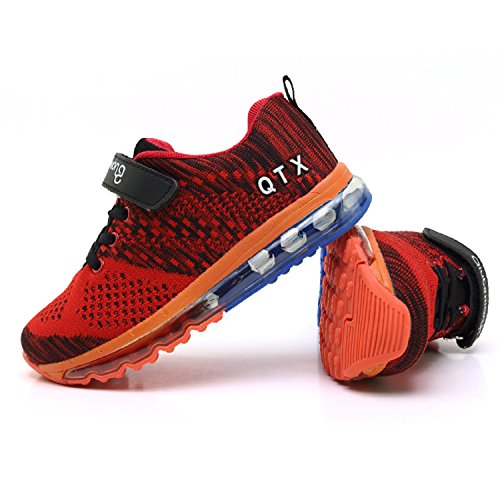 Unisex Bambini Scarpe da Ginnastica Basse Corsa Sportive Running Sneakers Ragazzi Ragazze Nero