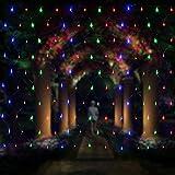Salcar LED Lichternetz 3*2 Meter für Weihnachten Deko Party Festen, Innen, 8 Lichtwechselprogramme (RGB)