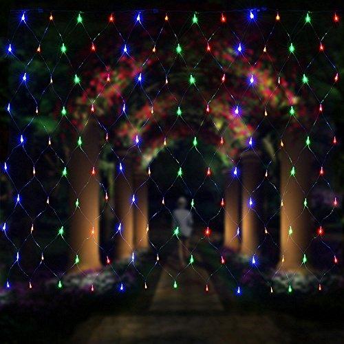 Salcar Filet lumineux à LED 3 x 2 m pour décoration de Noël, fêtes, intérieur, 8 programmes de changement de lumière (RGB)