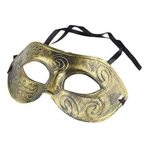 Cloverclover Neue Herren Retro Roman Gladiator Gesicht Kostüm Halloween Tanzparty Maske (Silver Ghost Kostüm)