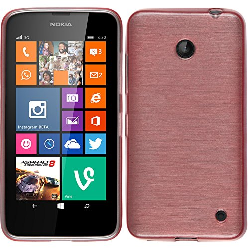 PhoneNatic Custodia per Nokia Lumia 630 Cover rosa brushed Nokia Lumia 630 in silicone Cover