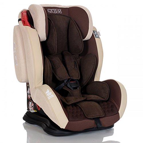 LCP Kids Auto Kindersitz 9-36 kg GT Gr. 1 2 3 Schlafposition, Farbe, Braun