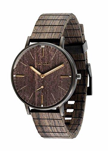 WEWOOD Herren Analog Quarz Smart Watch Armbanduhr mit Holz Armband WW63002 (Uhr Wewood)
