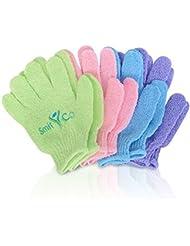 Beito Peeling-Handschuhe für Männer und Frauen–4Paar Full Body Scrub–Zubehör für Dusche, Bad oder Spa Exfoliation–OP Zellen, für weiche Haut und verbessert die Durchblutung