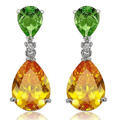 Pendientes verde esmeralda Champagne Prom de la lágrima cuelga Celebrity Inspired