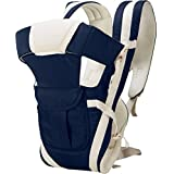 My NewBorn Cotton 4 Way Carrying Position Baby Carrier with Waist Belt (Dark Blue)