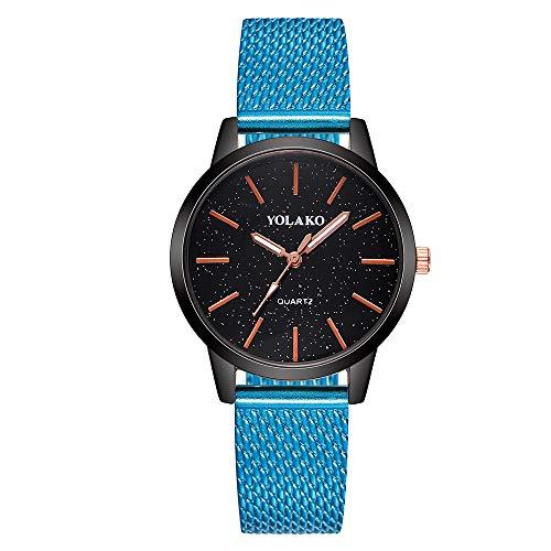 Ausverkauf  Damen Einfache Armbanduhr Lederarmband LEEDY Frauen Analog Quarz Uhr Ultradünn Quarzuhr Damenuhr Analog Wrist Watch für Urlaub/Geburtstag Geschenke 2019 Neu