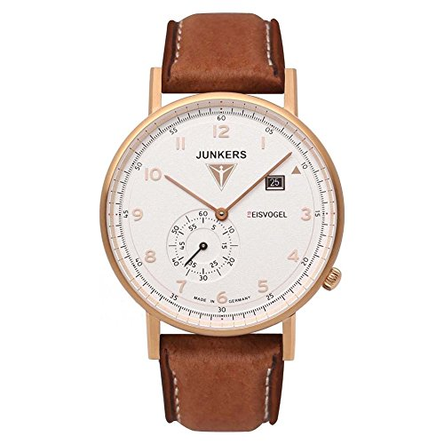 Junkers Herren Analog Quarz Uhr mit Leder Armband 67324