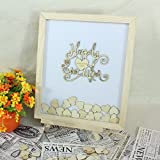 Susie85Electra rustico Happy Ever After wedding guestbook alternative, Heart Drop box libro degli ospiti per matrimonio, personalizzato matrimonio libro degli ospiti, idea regalo 40x50cm
