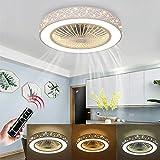 LED Dimmbar Deckenleuchte, Deckenventilator Fan deckenventilator mit fernbedienung leise deckenventilator Schlafzimmer Lampe Wohnzimmer Kindergarten Büro Kinderzimmer deckenventilator beleuchtung