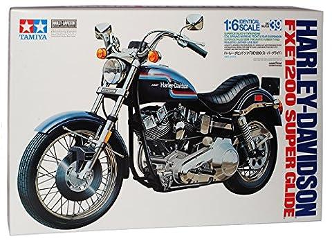 Harley Davidson FXE 1200 Super Glide 16039 Kit Bausatz 1/6 Tamiya Modell Motorrad mit individiuellem (Bausatz Harley Davidson)
