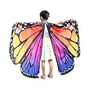 Auspicious beginning Girls Kids Soft Butterfly Wings Fairy Shawl Nymph Pixie Costume