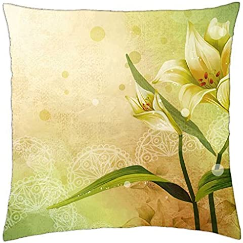 Abstract flower-Cover (Throw Pillow 18