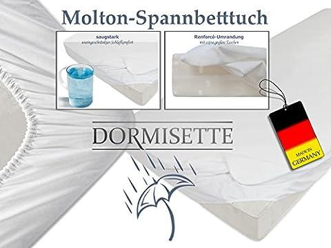"""der perfekte Schutz für Ihre Matratze - wasserdichtes Molton-Spannbetttuch von """"Dormisette"""" - made in Germany - erhältlich in 7 verschiedenen Größen, 70 x 140 cm"""