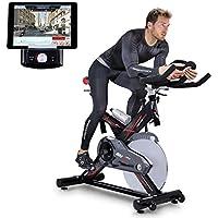 Preisvergleich für Sportstech Profi Indoor Cycle SX400 mit Smartphone App+Google Street View,22KG Schwungrad,Armauflage,Pulsgurt kompatibel-Speedbike mit flüsterleisem Riemenantrieb-Fahrrad Ergometer bis 150Kg