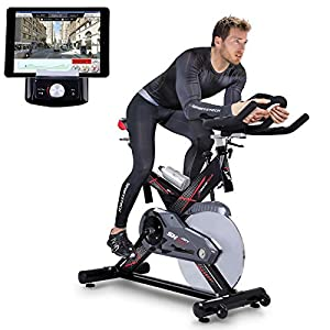 51owpjRzOQL. SS300  - Sportstech professional Indoor Cycle SX400 with smartphone app control + 22KG flywheel, arm support, pulse belt compatible - Speedbike in studio quality