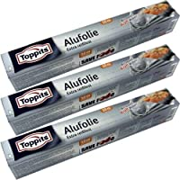Toppits Drei Aluminiumfolien extra reißfest mit Doppel-Kraft-Waben (3 Stck. x 10m x 29,5cm)
