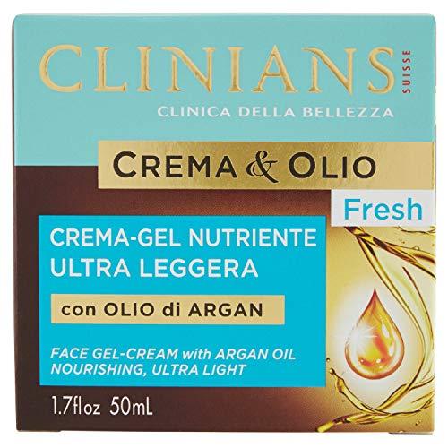 Face gel-cream with argan oil nourishing ultra light 50 ml