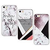 Misstars 3X Coque en Silicone pour iPhone 5C Marbre, Ultra Mince TPU Souple Flexible...