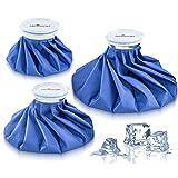 Ice bag Packs–Set di 3borse del ghiaccio riutilizzabili Hot & Cold, sollievo istantaneo dal dolore e dal gonfiore–Design flessibile che si adatta perfettamente ai contorni del corpo–senza perdite, di dimensioni 15,2, 22,9 e 27,9 cm